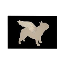 french bulldog wings Rectangle Magnet (10 pack)