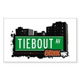 Tiebout Av, Bronx, NYC Rectangle Decal