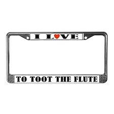 Funny Flute Music License Plate Frame