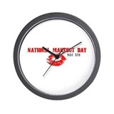 National Makeout Day Wall Clock