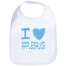 Blue I Heart (Love) Applesauce Bib