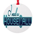 10x10_apparel housecall black.png Round Ornament