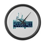 10x10_apparel housecall black.png Large Wall Clock