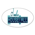 10x10_apparel housecall black.png Sticker (Oval 10