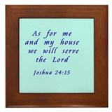 Joshua 24:15 Framed Tile