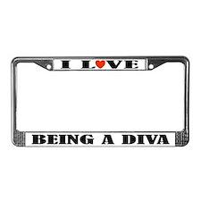 Funny Diva Music License Plate Frame