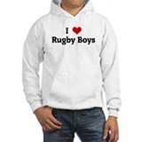 I Love Rugby Boys Jumper Hoody