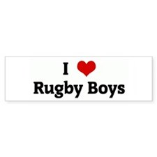 I Love Rugby Boys Bumper Car Sticker