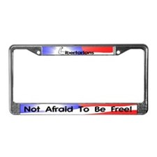 Libertarian Not Afraid License Plate Frame