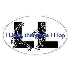 LL-I Lindy, therefore I Hop-LindyDance Decal