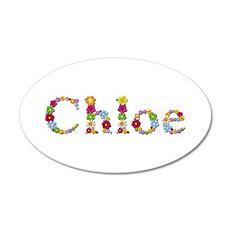 Chloe Bright Flowers 20x12 Oval Wall Decal