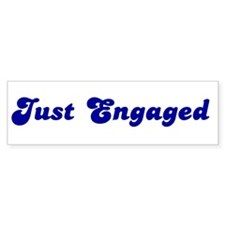 Just Engaged Bumper Car Sticker