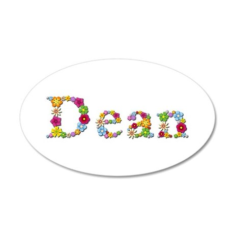 Dean Bright Flowers 20x12 Oval Wall Decal