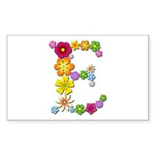 E Bright Flowers Rectangle Decal