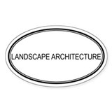 LANDSCAPE ARCHITECTURE Oval Decal