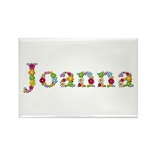 Joanna Bright Flowers Rectangle Magnet