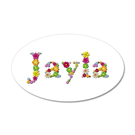 Jayla Bright Flowers 35x21 Oval Wall Decal