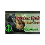Hippie Chimp Rectangle Magnet (10 pack)