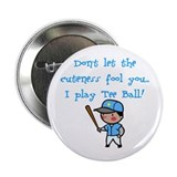 Tee Ball Boy Button