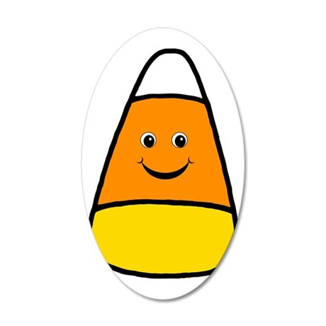 Mr Candy Corn 35x21 Oval Wall Decal
