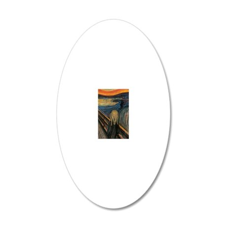 The Scream 20x12 Oval Wall Decal