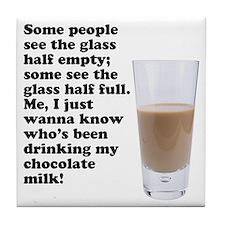 Chocolate Milk Tile Coaster