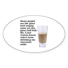 Chocolate Milk Oval Sticker
