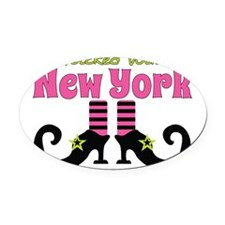 Wicked Witch of New York Oval Car Magnet