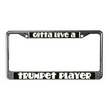 Trumpet Player License Plate Frame