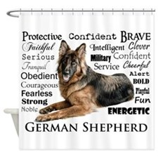 German Shepherd Traits Shower Curtain