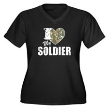 I Heart My Soldier Plus Size T-Shirt
