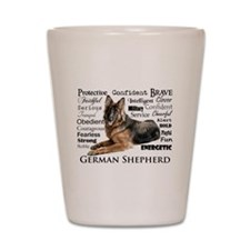 German Shepherd Traits Shot Glass