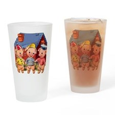 Cute Pigs Drinking Glass