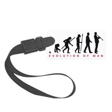 evolution of man clarinet player Luggage Tag