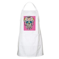Sugar Skull Halloween Pink Apron