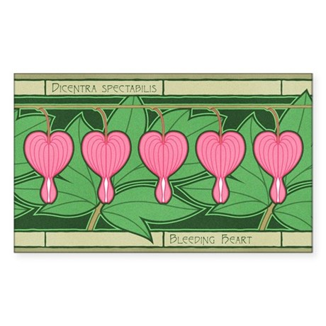 Bleeding Heart Rectangle Sticker
