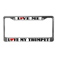 Love My Trumpet License Plate Frame