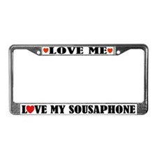 Love My Sousaphone License Plate Frame