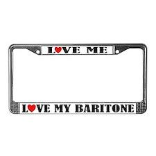 Love My Baritone License Plate Frame