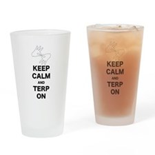 Keep calm and Terp on Drinking Glass