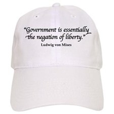 Mises Quote Baseball Baseball Cap