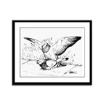 Pigeon Mates Framed Panel Print
