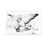 Pigeon Mates Mini Poster Print
