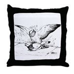 Pigeon Mates Throw Pillow