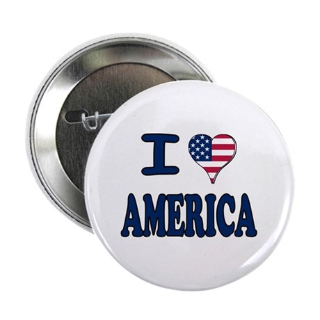 I heart America Button