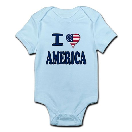 I heart America Infant Bodysuit
