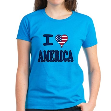 I heart America Women's Dark T-Shirt