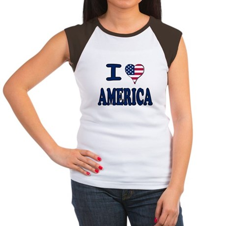 I heart America Women's Cap Sleeve T-Shirt
