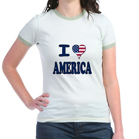 I heart America Jr. Ringer T-Shirt