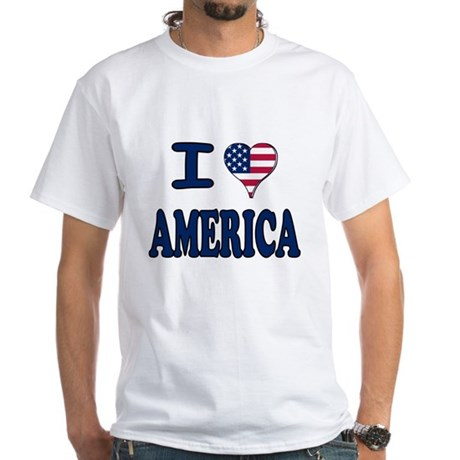 I heart America White T-Shirt